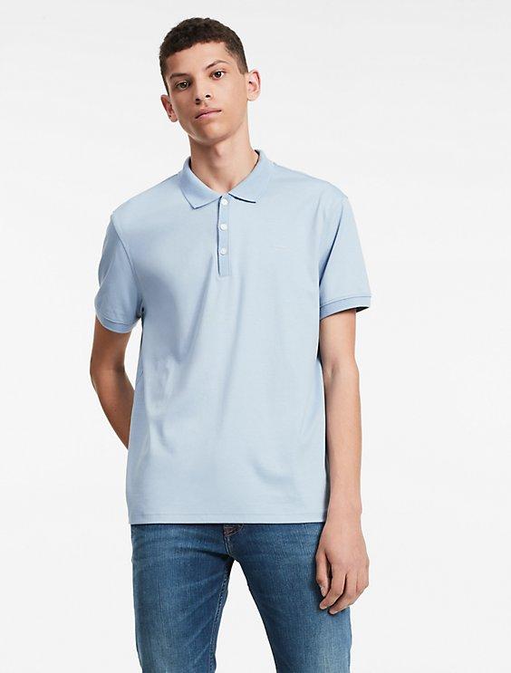 USOutlet.vn-CK-classic fit solid liquid cotton polo shirt-BLUE-01